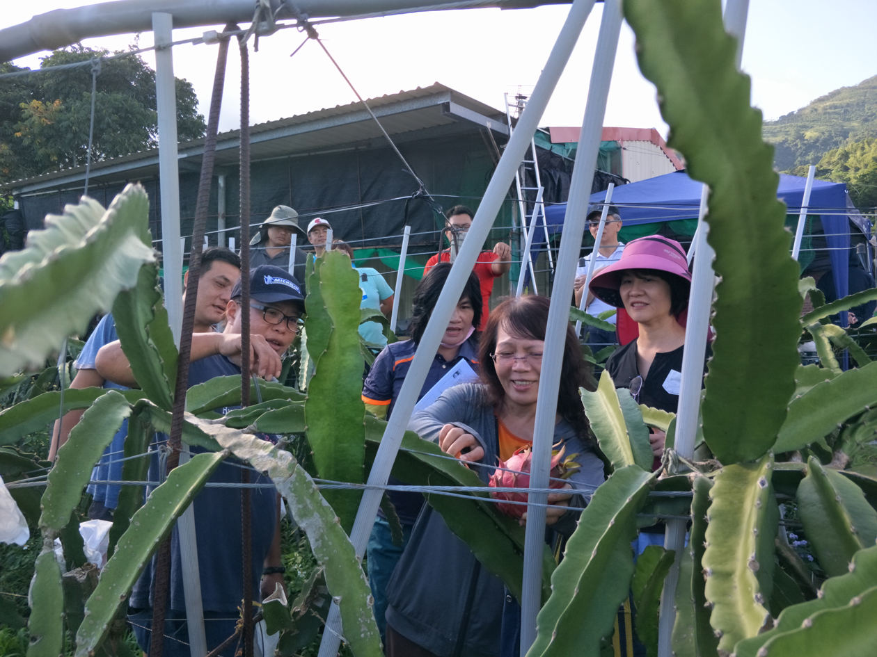 學員進行食農教育的參訪與體驗